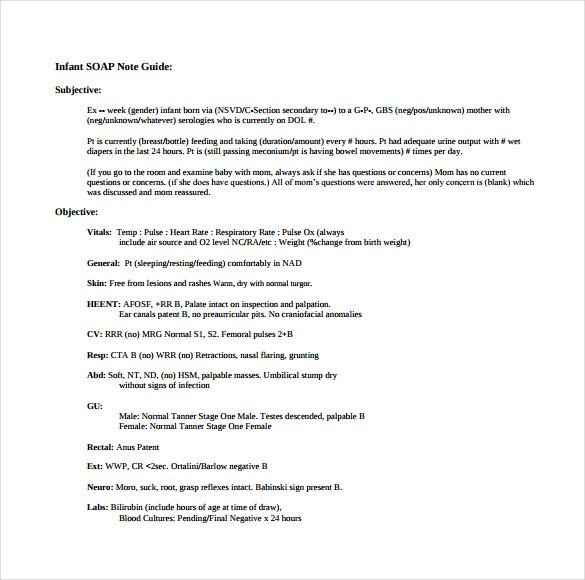 Soap Note Template u2013 9+ Free Word, PDF Format Download! Free - sample training evaluation form
