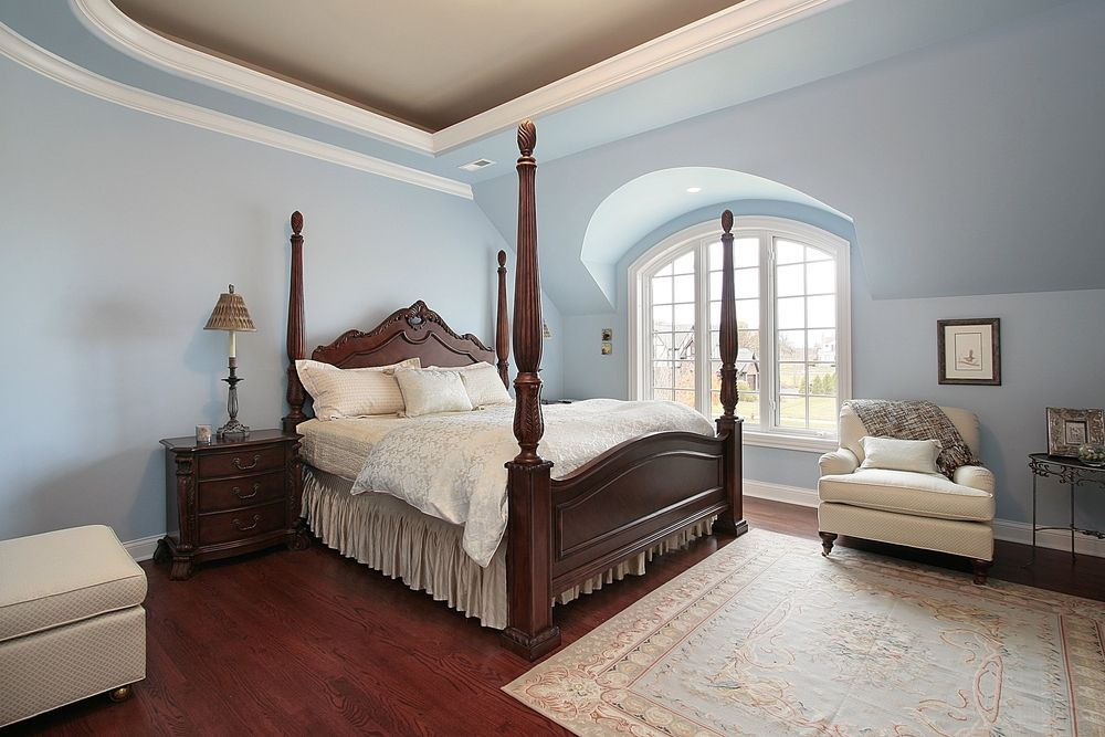 original cherry wood floor bedroom house