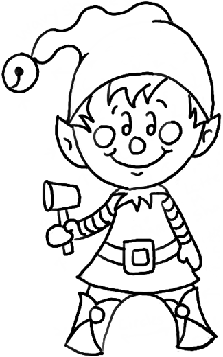 How To Draw A Christmas Elf With Easy Steps Drawing Tutorial How To Draw Step By Step Drawing Tutorials Elf Drawings Christmas Drawing How To Draw Santa