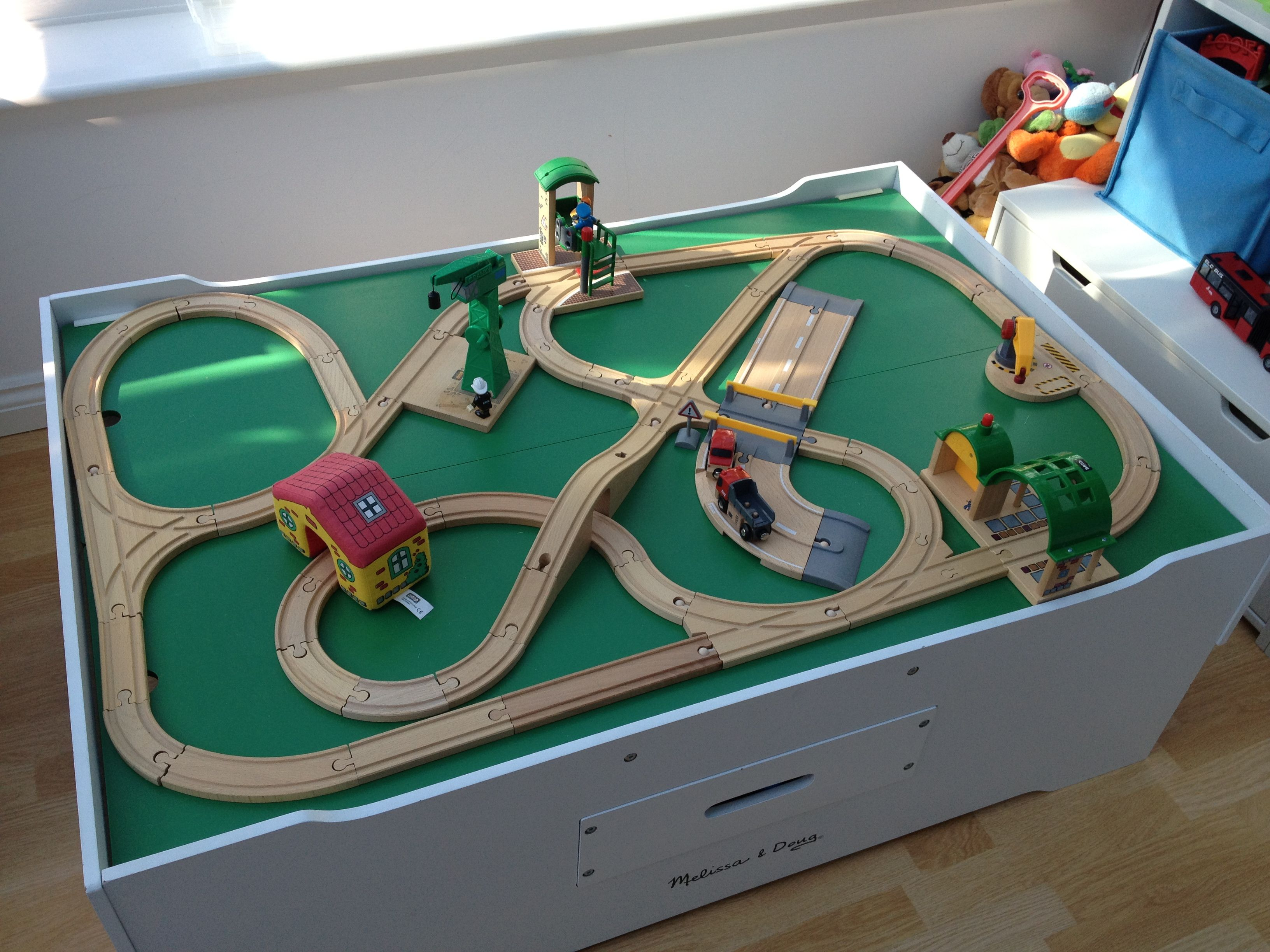 Advanced Wooden Train Set Featuring Items From Brio 33208 Rail