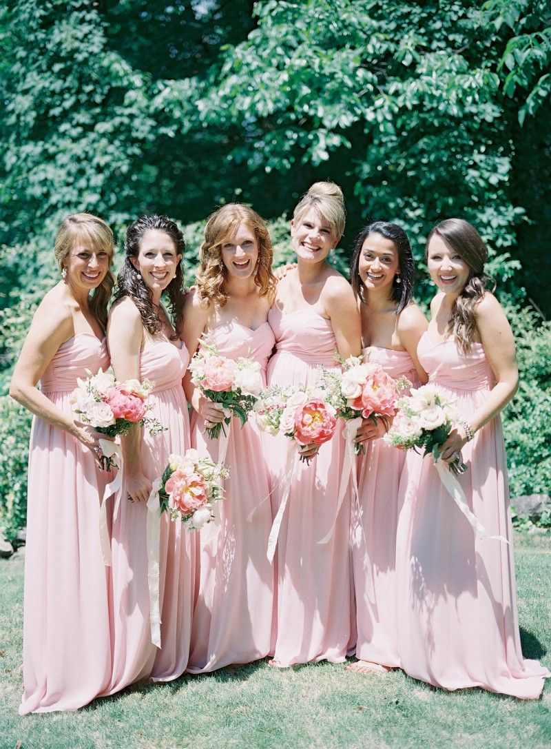 Union Station Bridesmaids Dresses In Blush