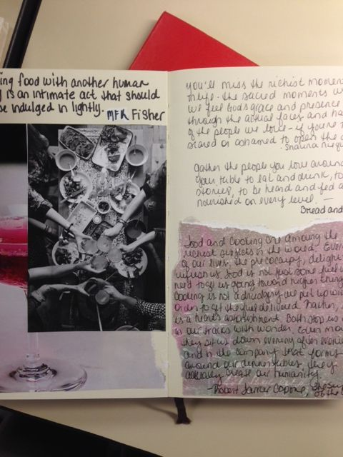 Commonplace book pages.