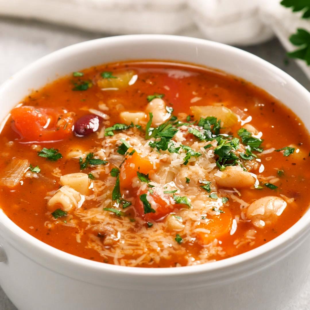Photo of BEST Pasta e Fagioli Soup