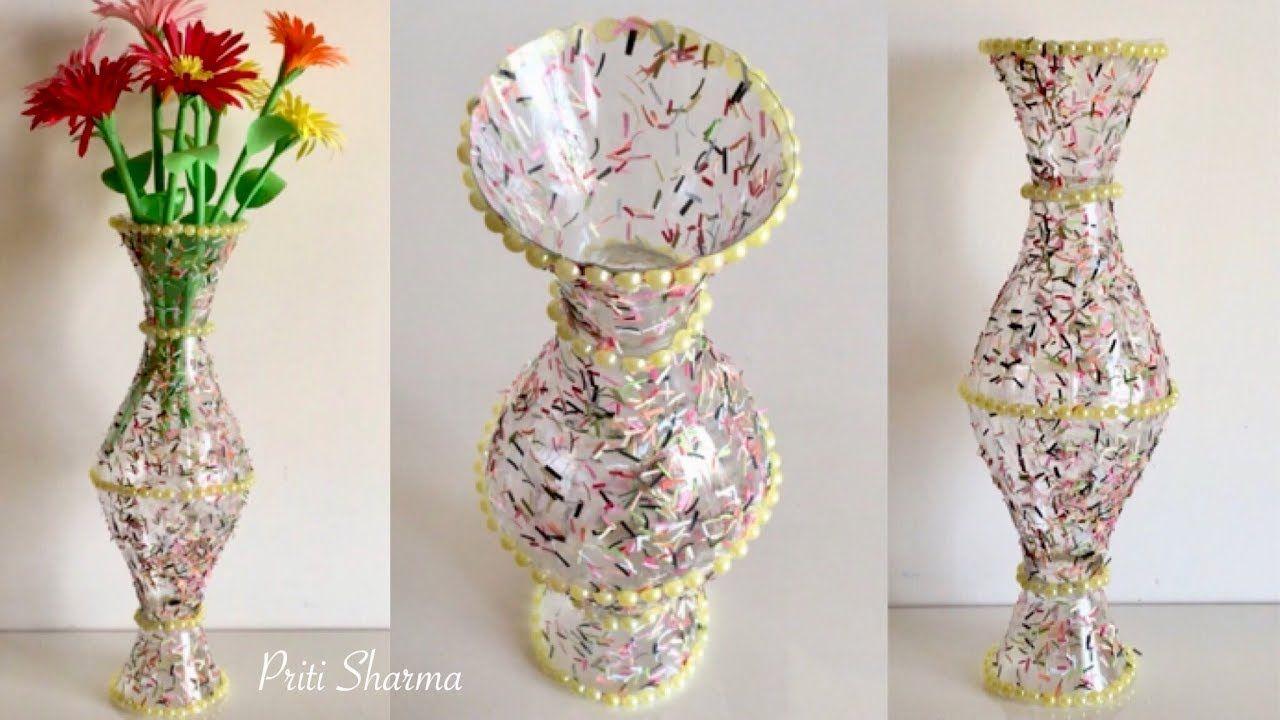 Best Out Of Waste Plastic Bottle Flower Vase 3 Diy Plastic