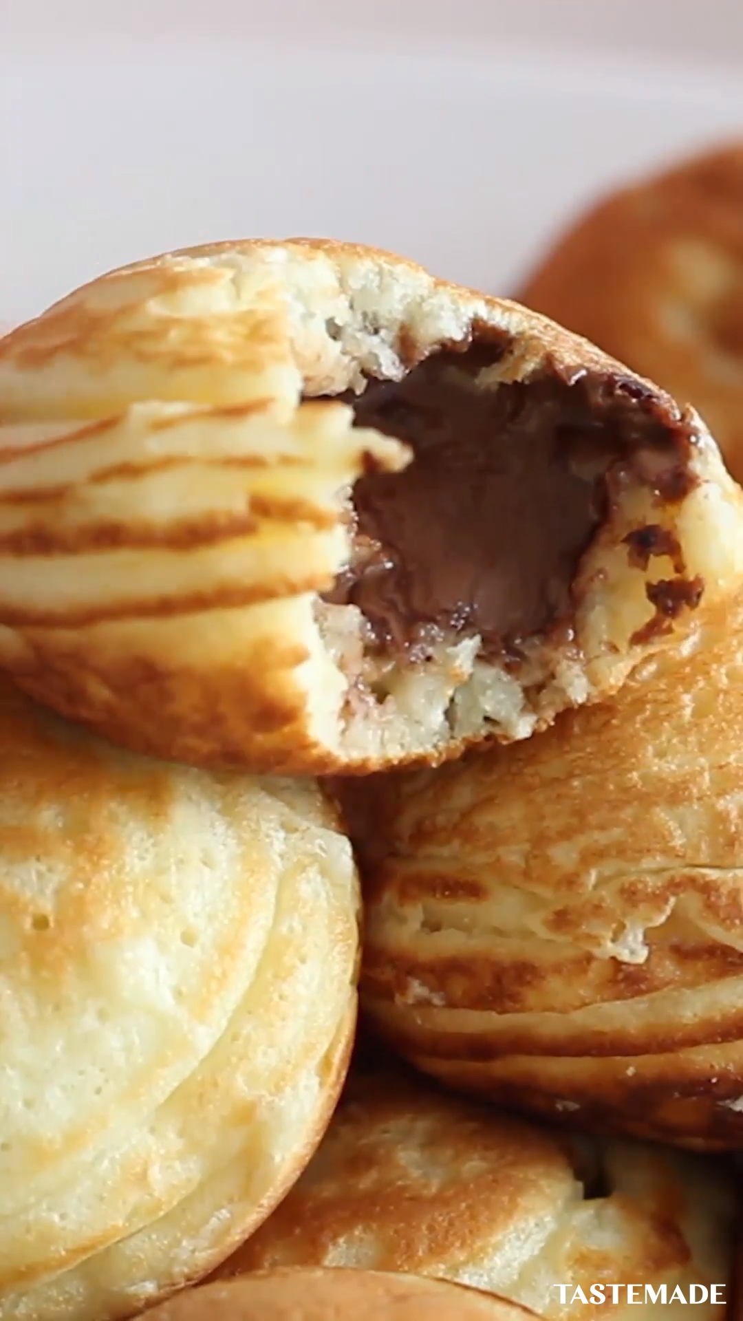 Nutella-Stuffed Mini Pancakes