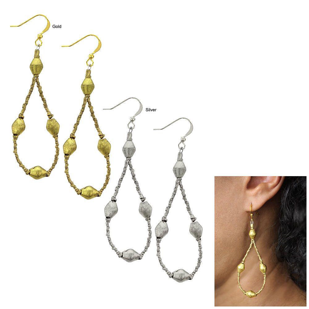 Piercing jewellery names  Ethiopian Rain Drop Earrings