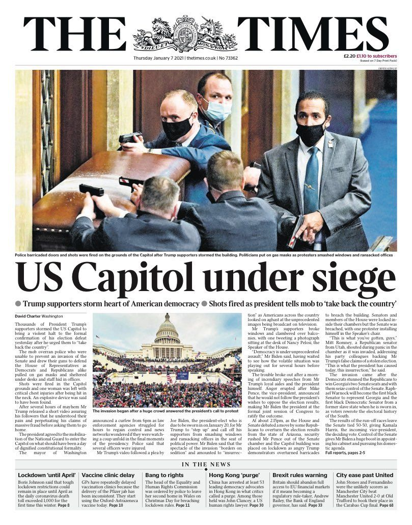Neil Henderson On Twitter In 2021 Us Capitol Newspaper Cover In This Moment