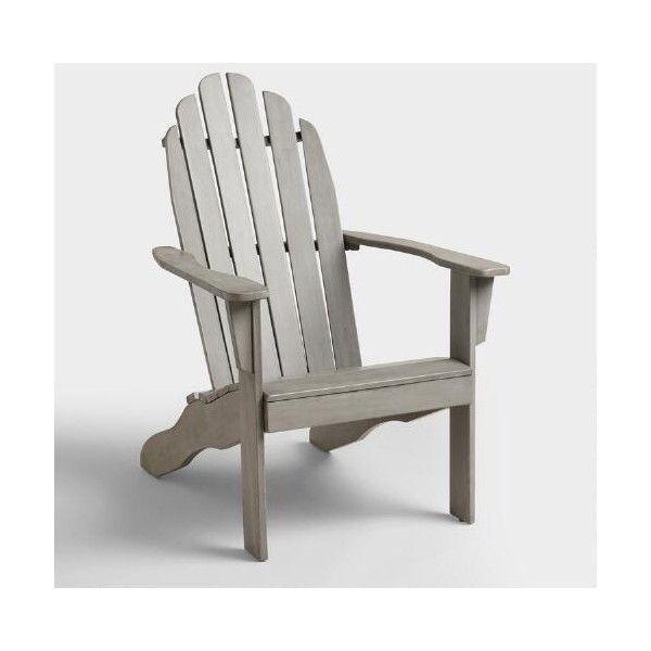 Cost Plus World Market Gray Adirondack Chair 65 Via Polyvore
