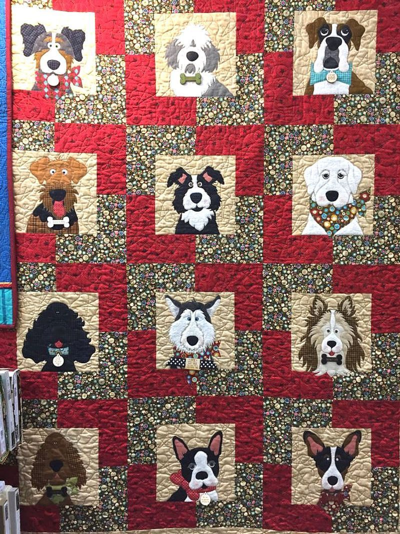 Dog Beautiful Faces Group Quilt Blanket 3Kustore Inc. in