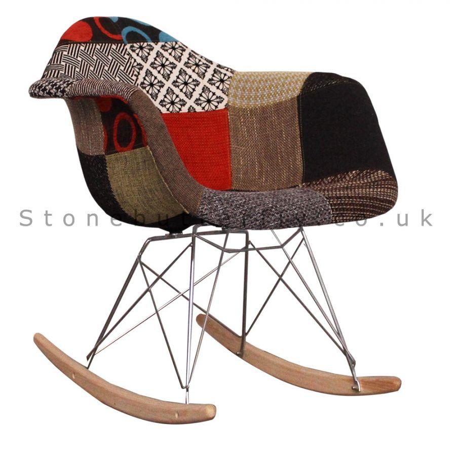 Charles ray eames style rar fabric rocking chair fabric