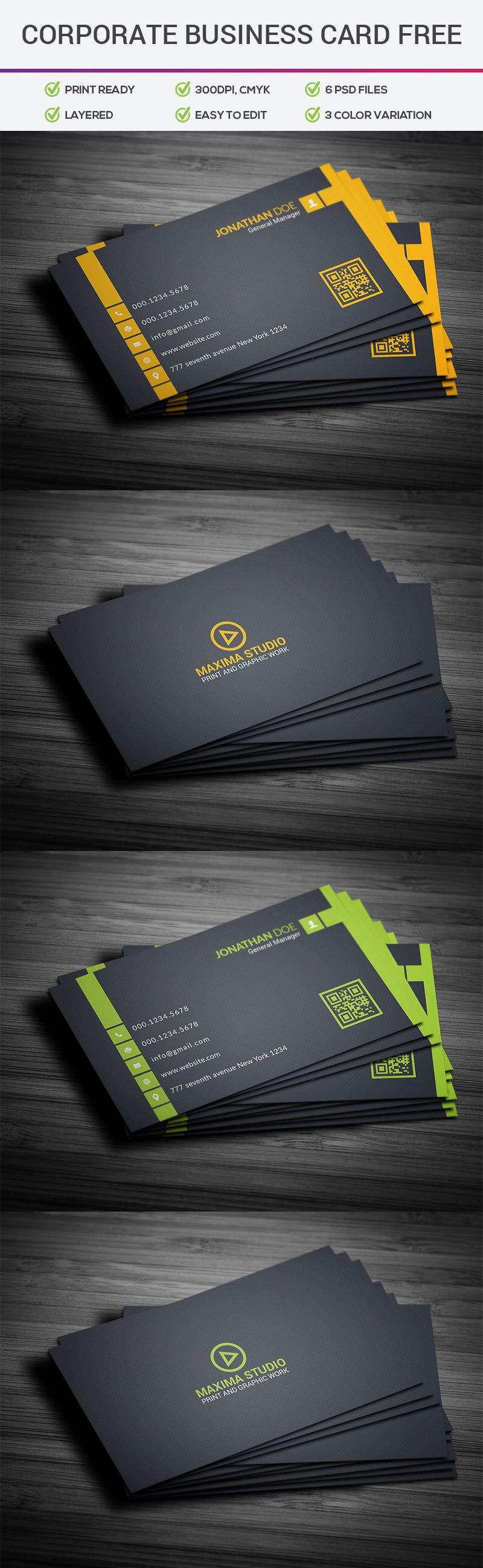 Free Corporate Business Card Template Free Business Cards Free Business Card Design Corporate Business Card