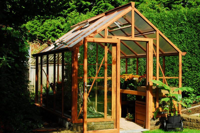 Wood Grain 8x10 Greenhouse Exterior
