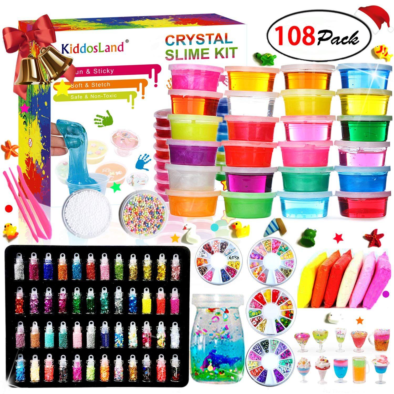 Diy crystal slime kit slime kits for girls boys toys