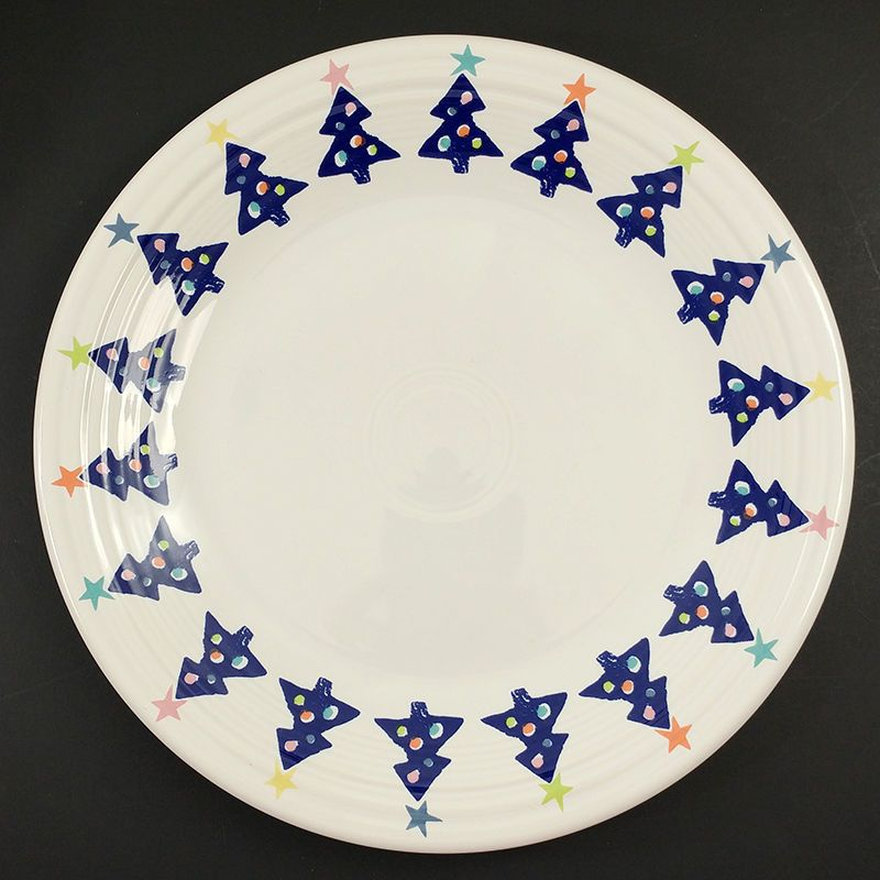 Fiesta Ware Blue Tree Cobalt Christmas Dinner Plate Stars Vintage 1998 May Co #HomerLaughlin  sc 1 st  Pinterest & Fiesta Ware Blue Tree Cobalt Christmas Dinner Plate Stars Vintage ...