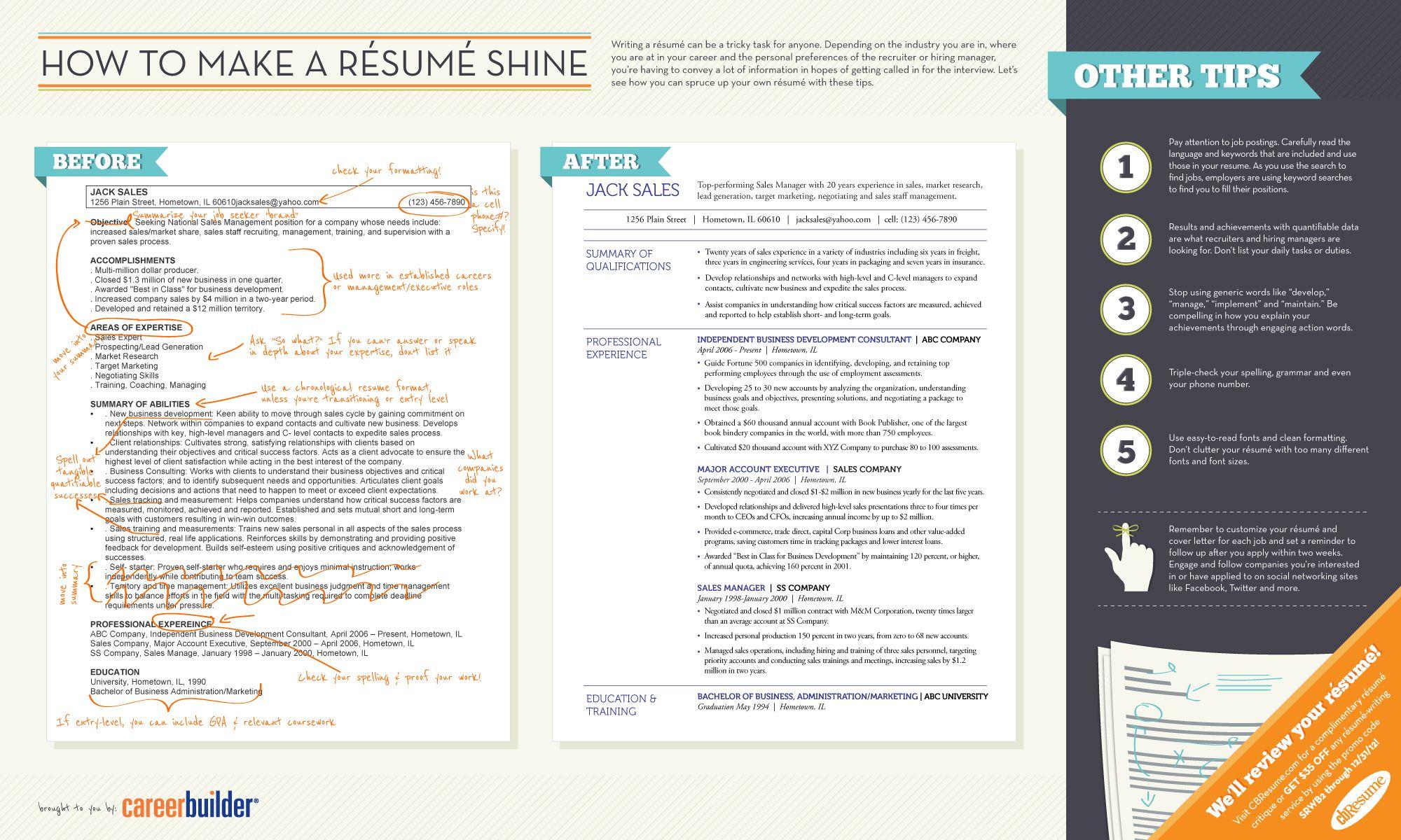Cómo crear un Curriculum Vitae brillante #infografia #infographic ...