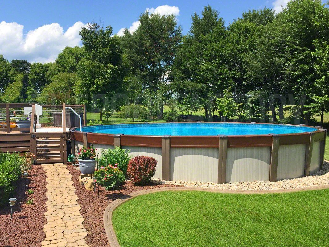 Above Ground Pool Installation Photos The Pool Factory Above Ground Pool Landscaping Backyard Pool Landscaping Swimming Pool Landscaping Backyard landscaping ideas with above ground pool