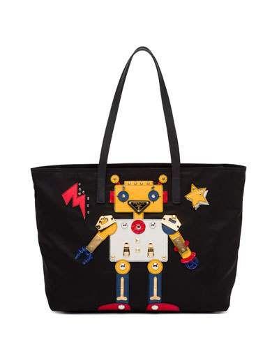 Prada Medium Nylon Robot Tote Bag 705c56ddbb5