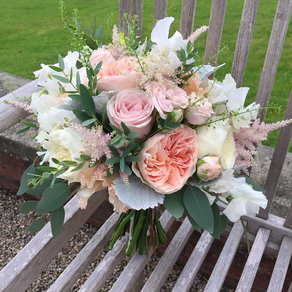 94 Rose And Gypsophila Bridal Bouquet Wedding Flowers Leeds Florist Designer Wedding Flowers