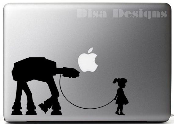 A girl and her at at vinyl decal car decal macbook decal at at decal star wars decal stormtrooper decal