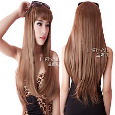 Women Girls Fashion hair MIX blonde/brown straight long fashion hair wig sy55