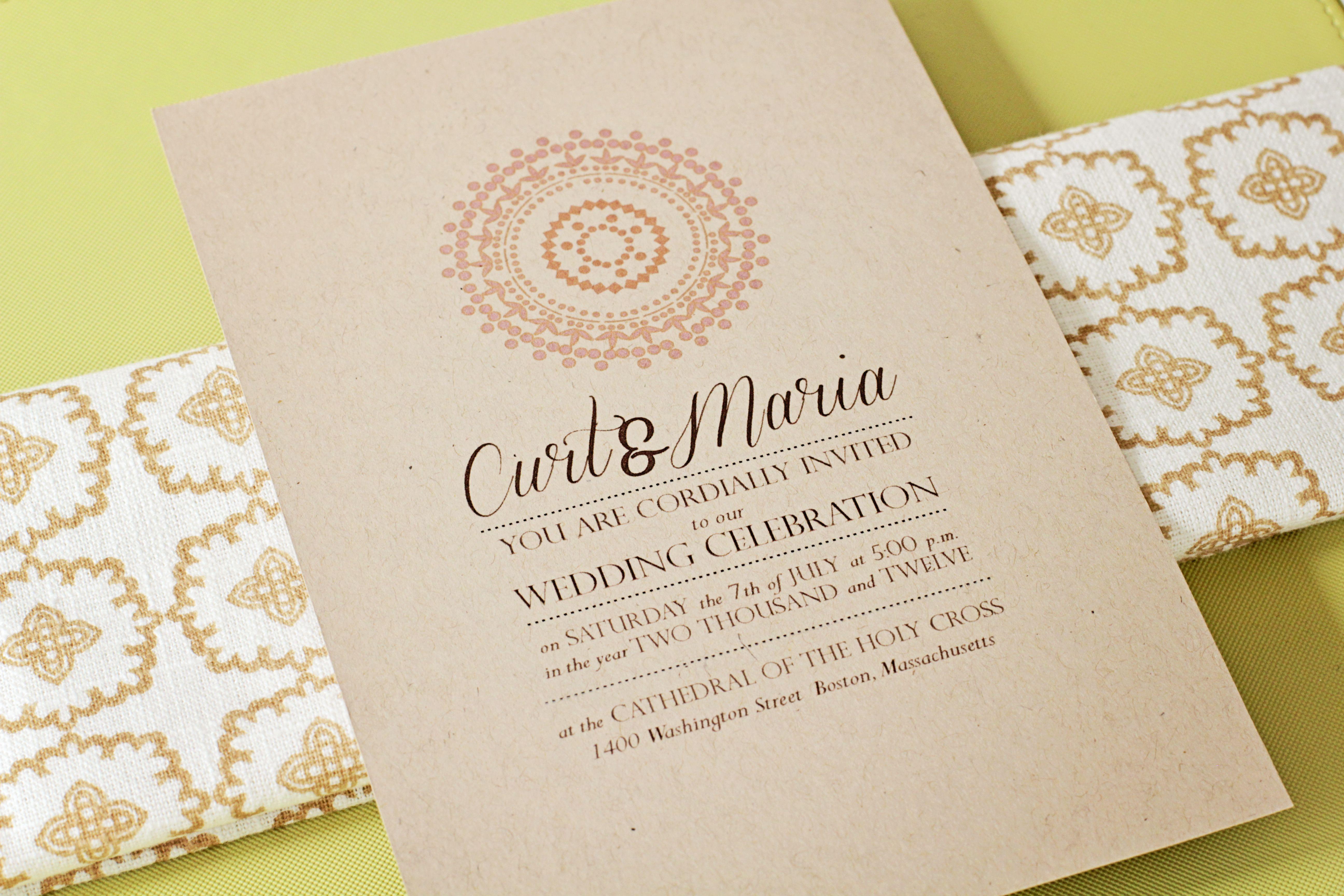 Custom wedding invitation by www.dear-june.com! We love the use of ...