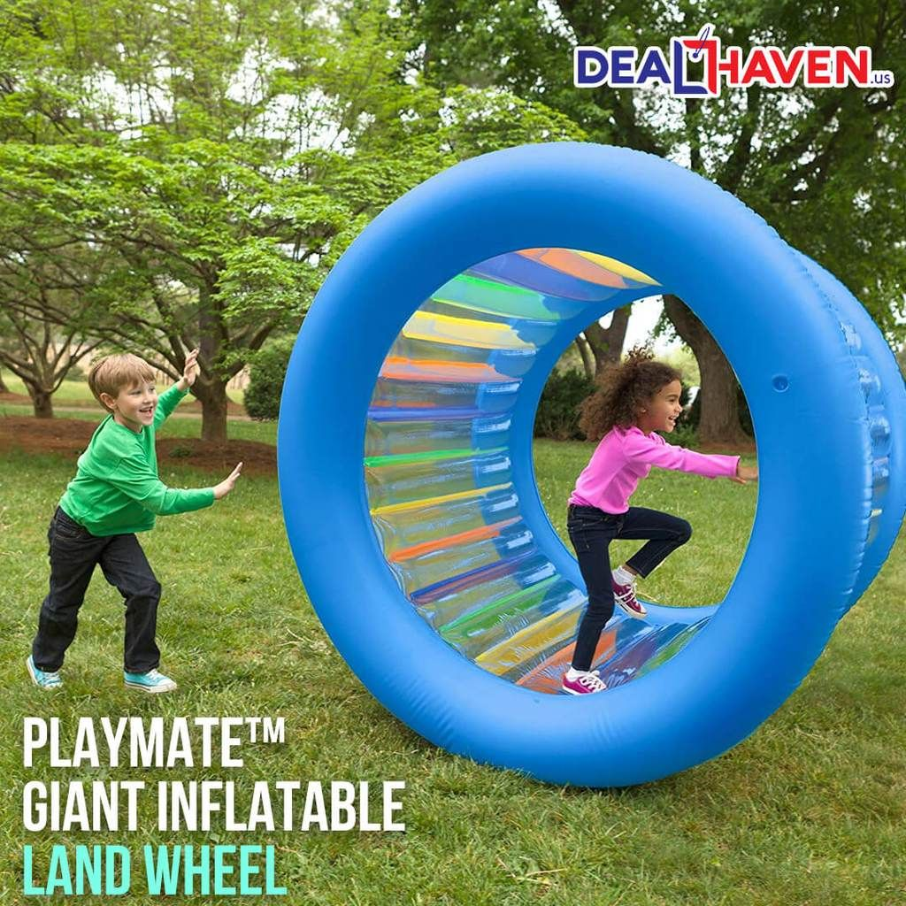 Playmate Giant Inflatable Land Wheel Giant Inflatable Backyard For Kids Outdoor Kids