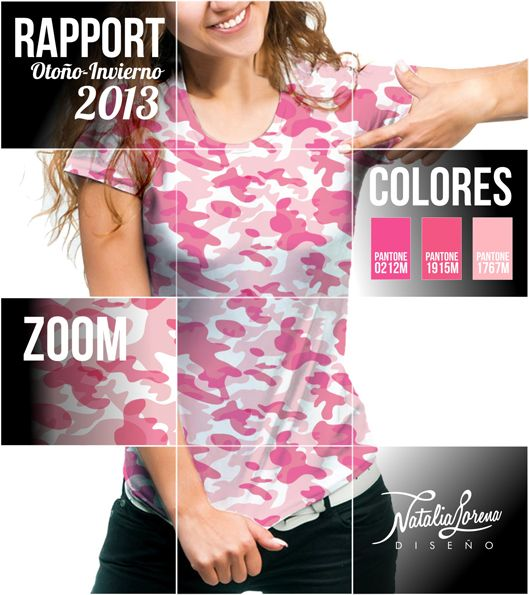 estampado camuflado femenino, solo 3 colores. female camouflage stamp, only 3 colors.