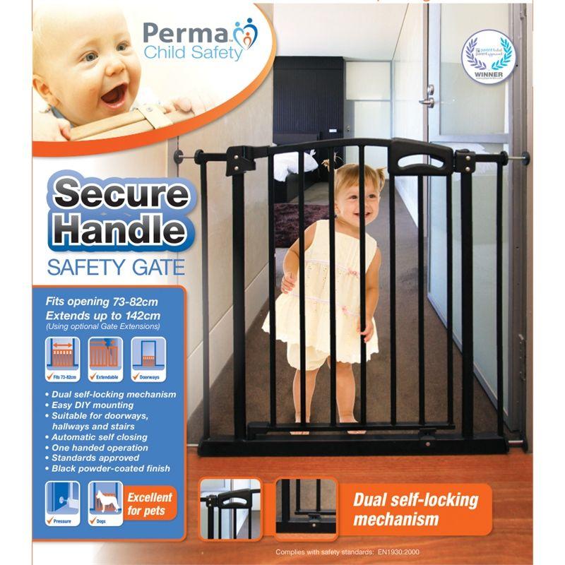 Perma Child Safety Secure Handle Gate 7382cm Black