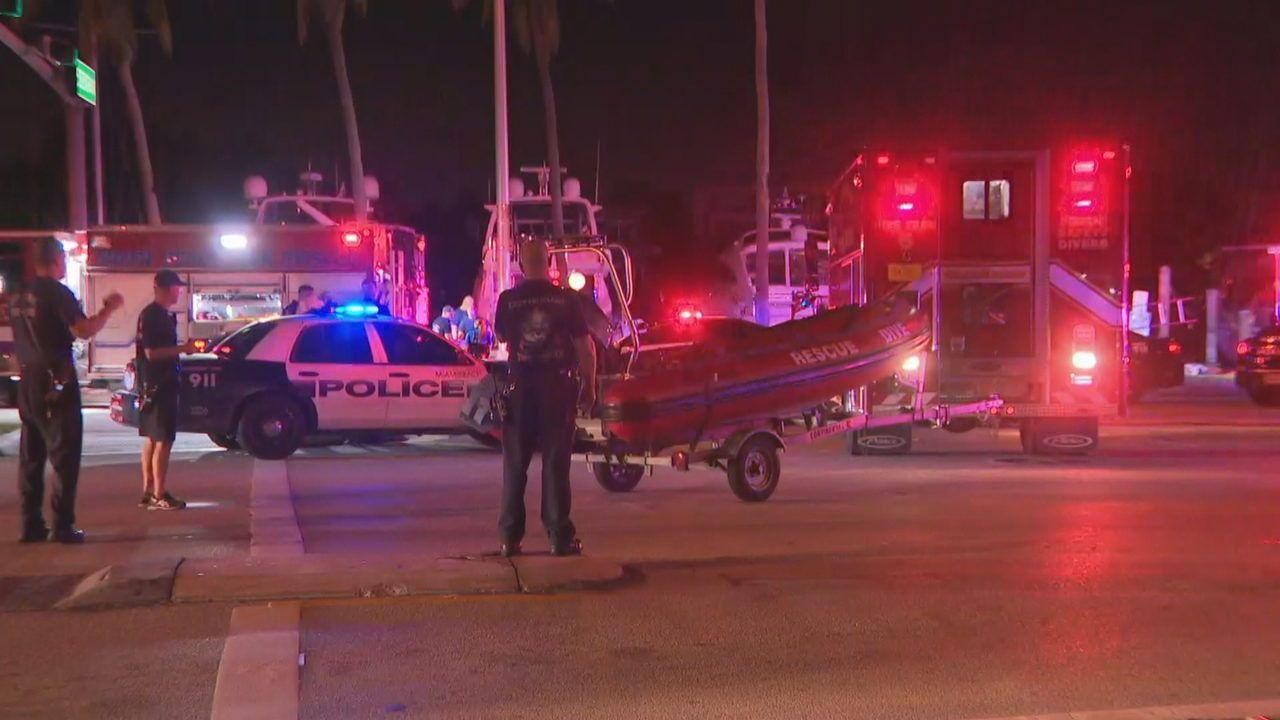 Driver crashes car into indian creek in miami beach local
