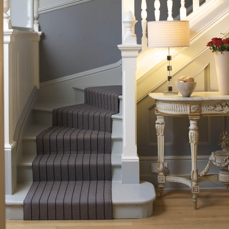Best Roger Oates Halle Elephant Herringbone Stair Carpet 640 x 480