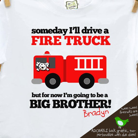 Newborn Bodysuit Take Home Outfit Personalized Top Baby Brother Fire Truck Bodysuit Little Brother Top Boys Raglan Little Brother