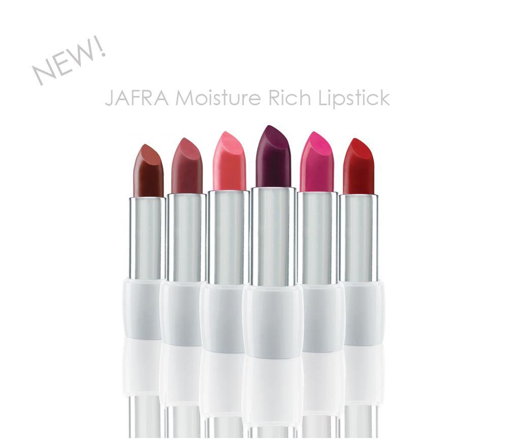 NEW! JAFRA Cosmetics Moisture Rich Lipsticks in 6 fabulous