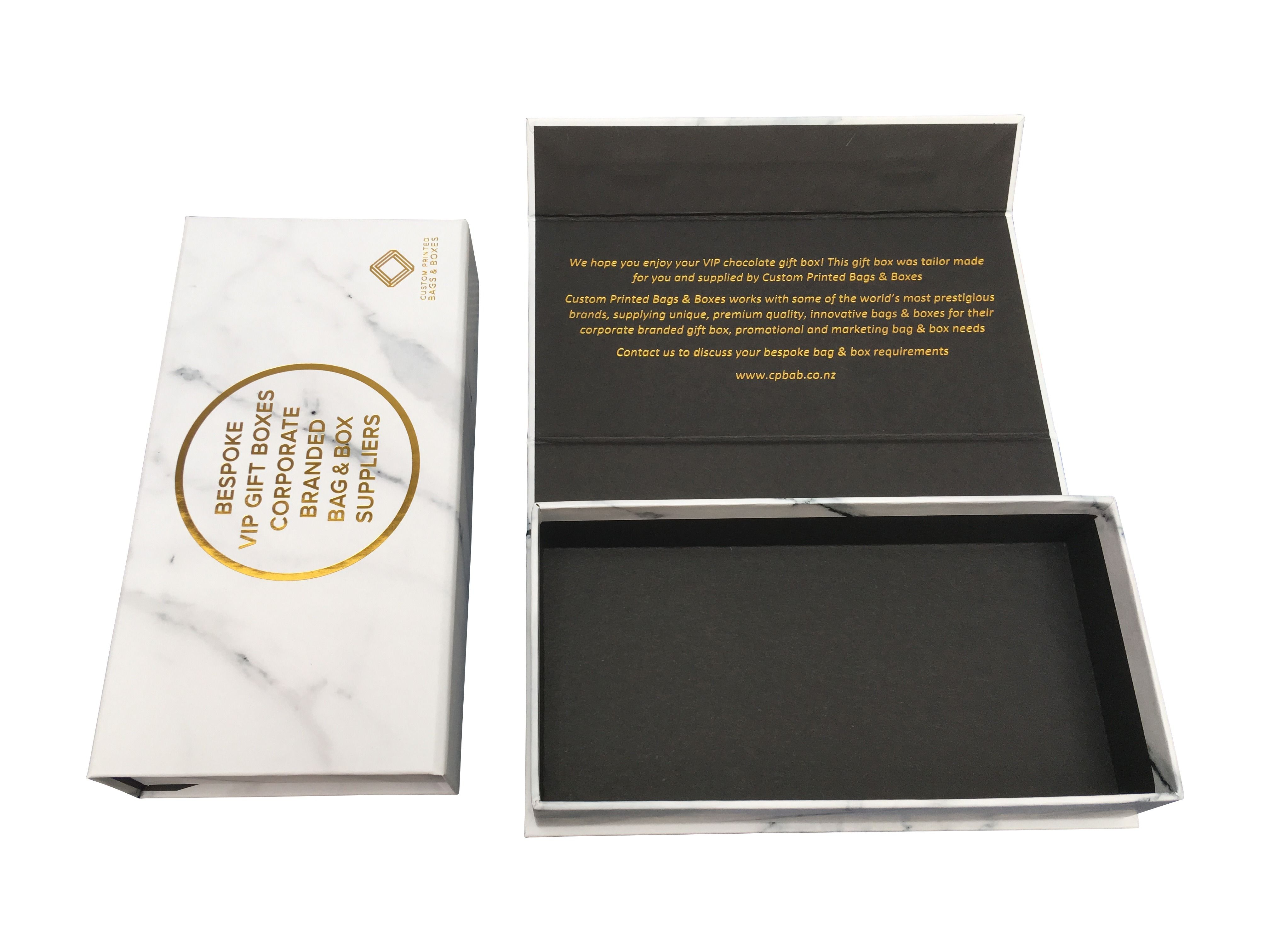 Marble And Gold Foil Printed Gift Box Rigid Box With Magnetic Close