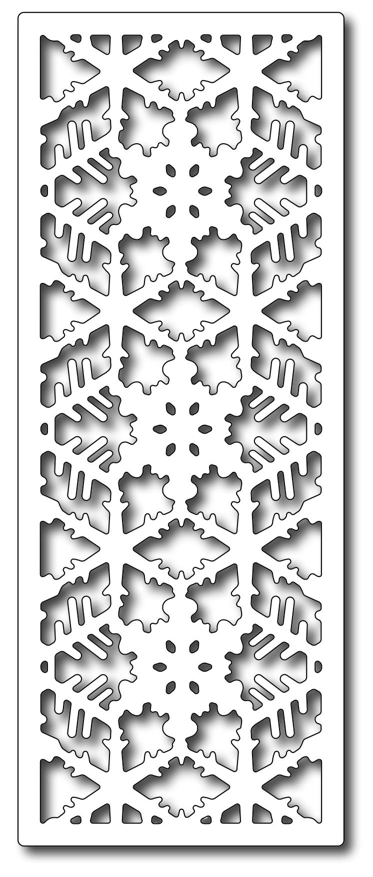 Precision Dies Snowflake Half Panel Frantic stamper