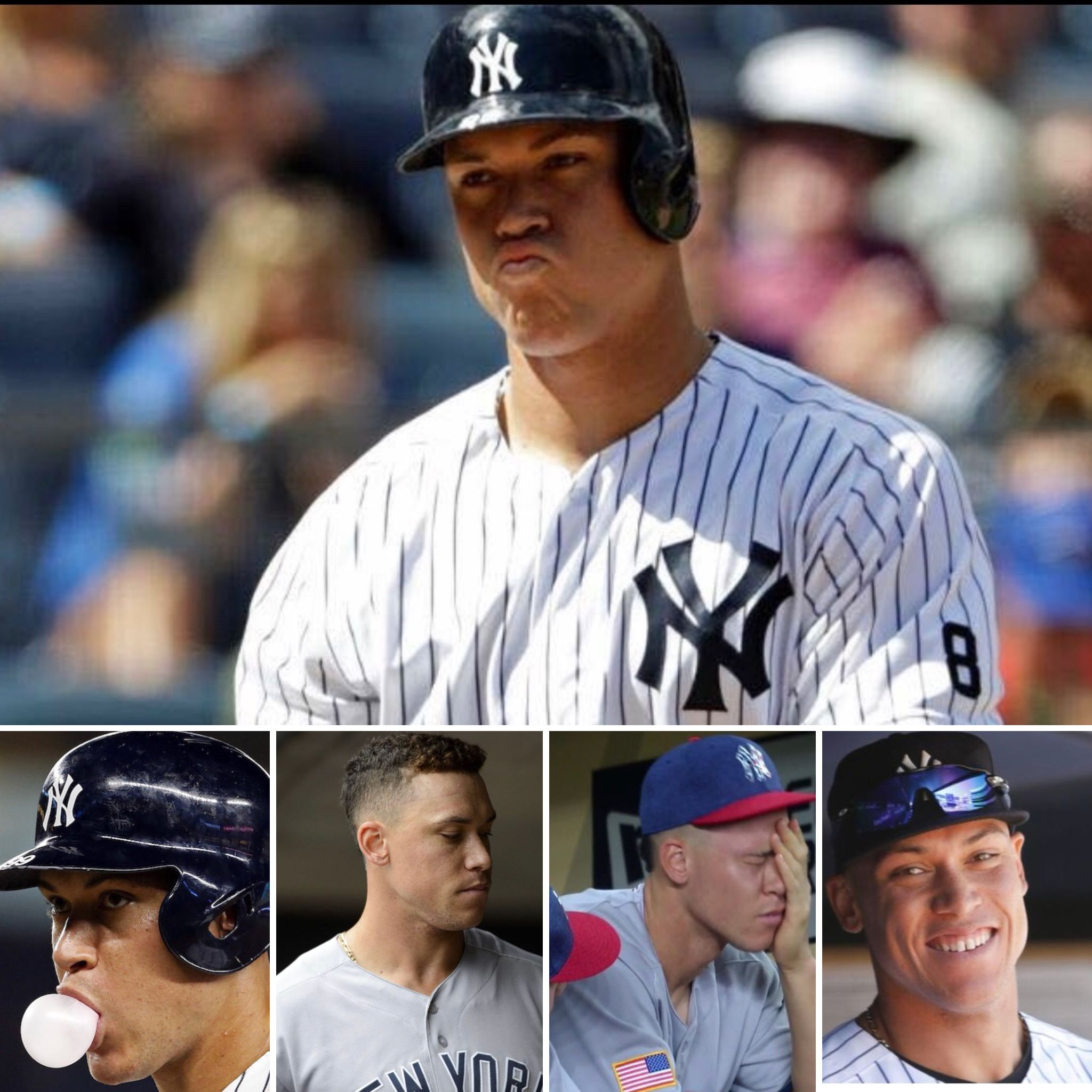 The Faces Of Aaron Judge Baseball Guys New York Yankees Ny Yankees
