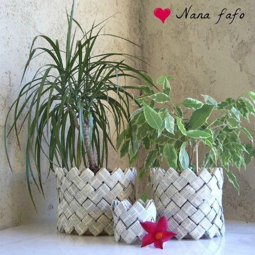 lundi r cup 39 un cache pot en papier d 39 annuaire nana. Black Bedroom Furniture Sets. Home Design Ideas
