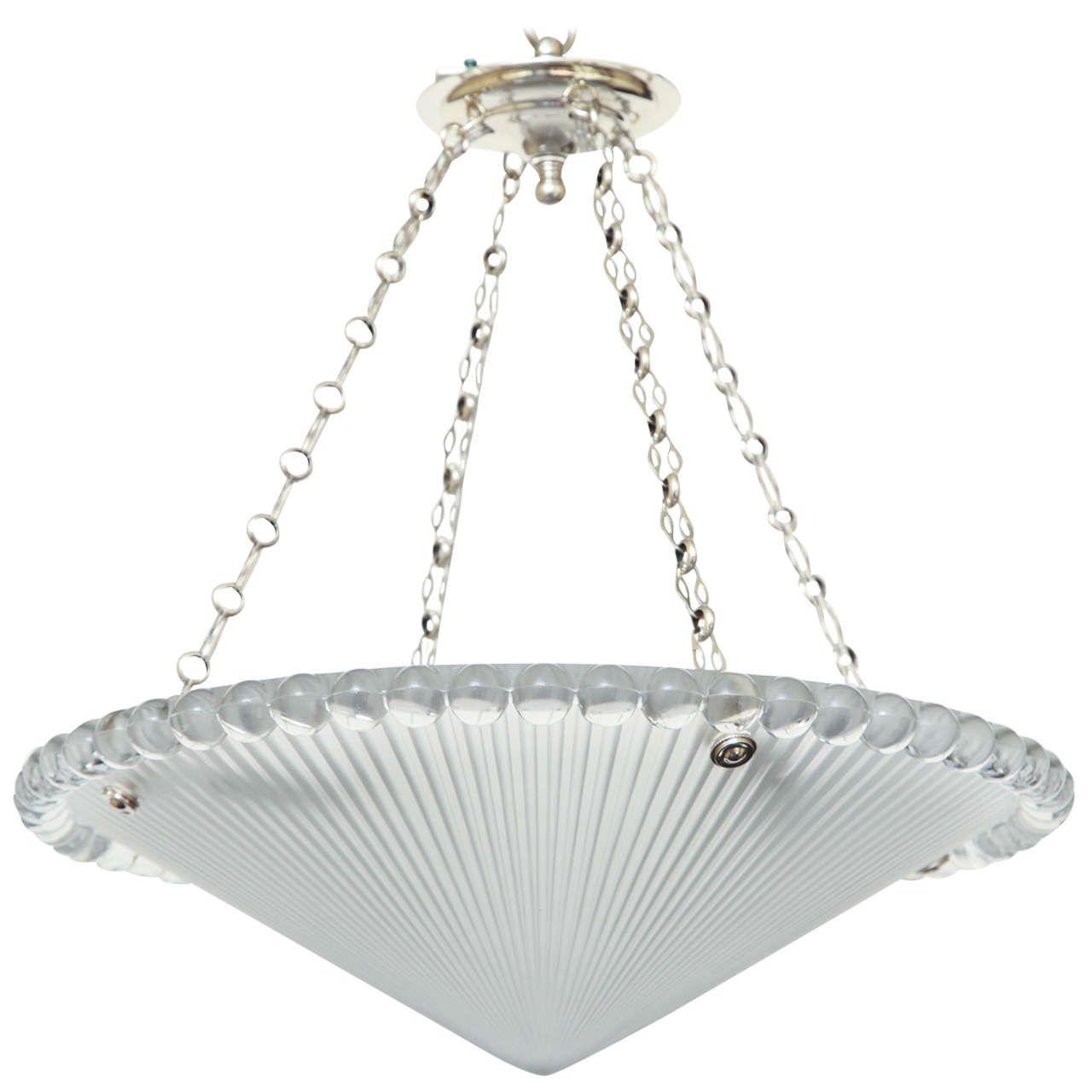 Art deco r lalique moldedglass pendant from a unique collection