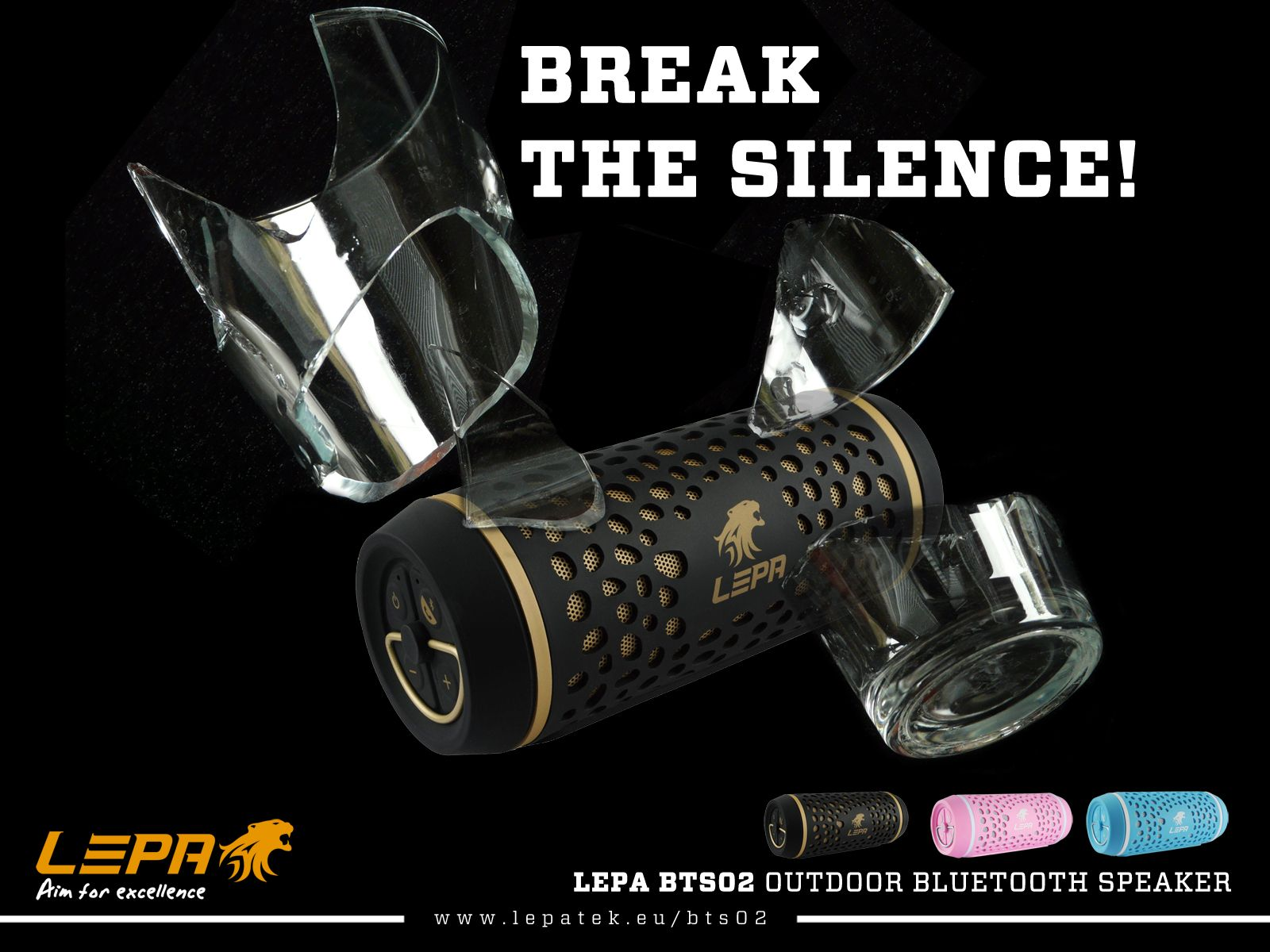 LEPA BTS02 Outdoor Bluetooth Speakers / Available in May 2015  #breakthesilence #lepa #bts02 #outdoormusic
