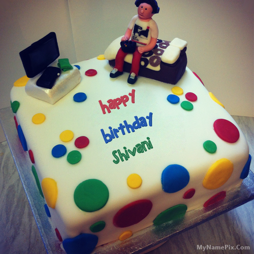 The Name Shivani Is Generated On Birthday Cake For Boys