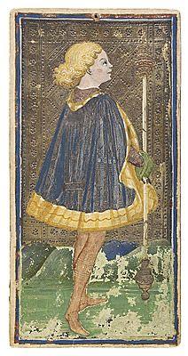 Bonifacio Bembo - Fante di bastoni - 1440 circa - Accademia Carrara di Bergamo Pinacoteca