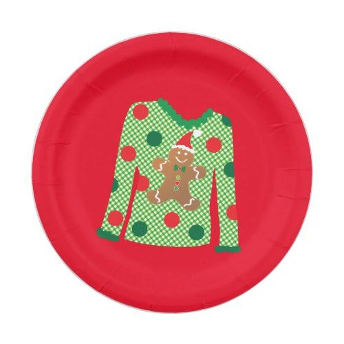 Ugly Sweater Christmas Party Plates (Red)  sc 1 st  Pinterest & Sweater Christmas Party Plates (Red)