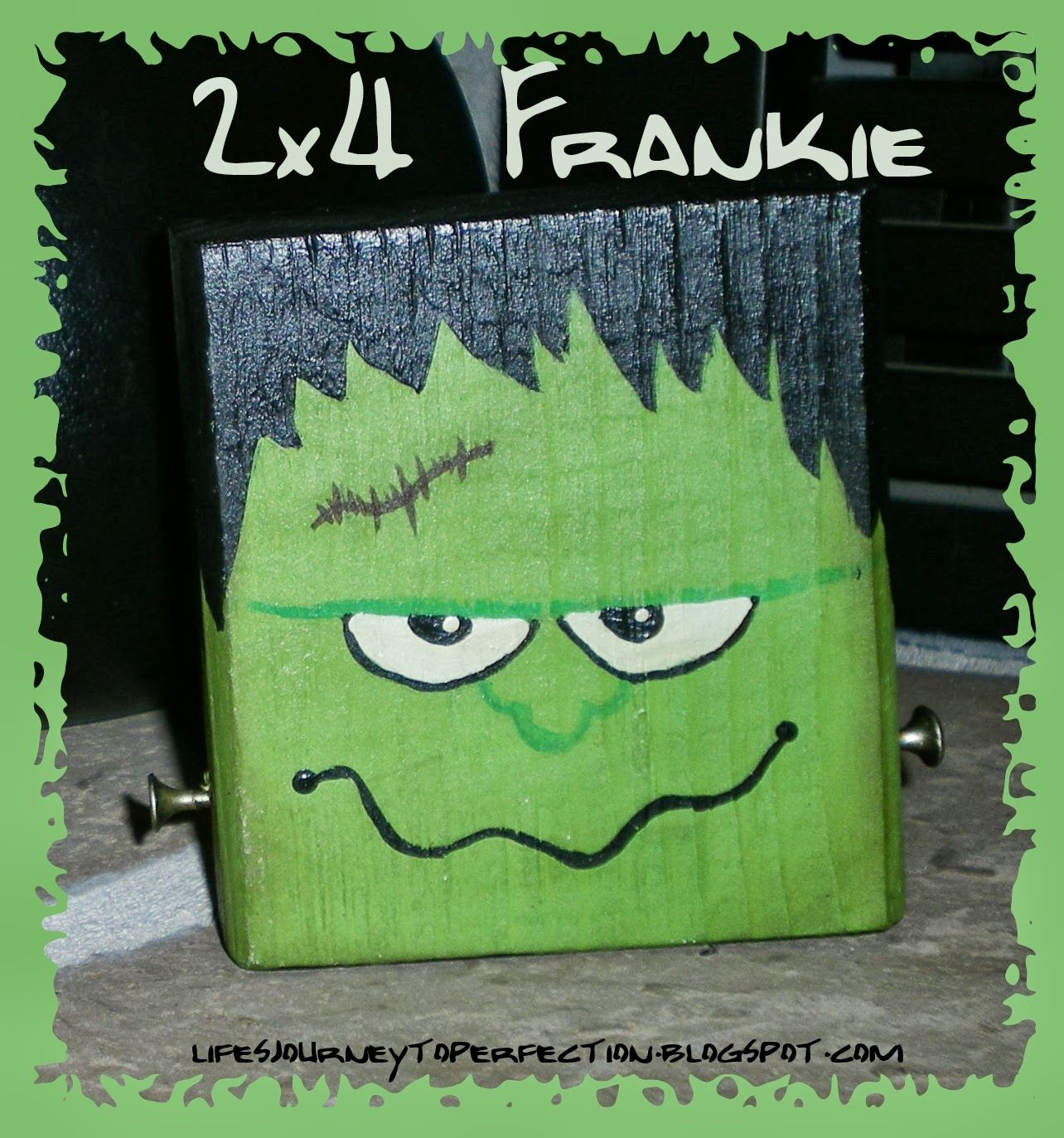 Halloween Craft 4 2x4 Frankie Craft And Holidays