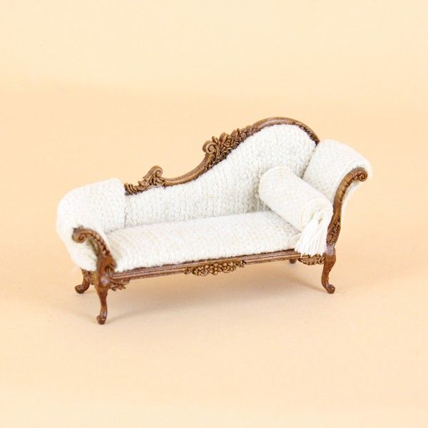 Elizabeth Chaise - 1/2 Scale - New Walnut [S-2777-New Walnut] - $59.99 : Bespaq International, Fine Miniatures and Collectables