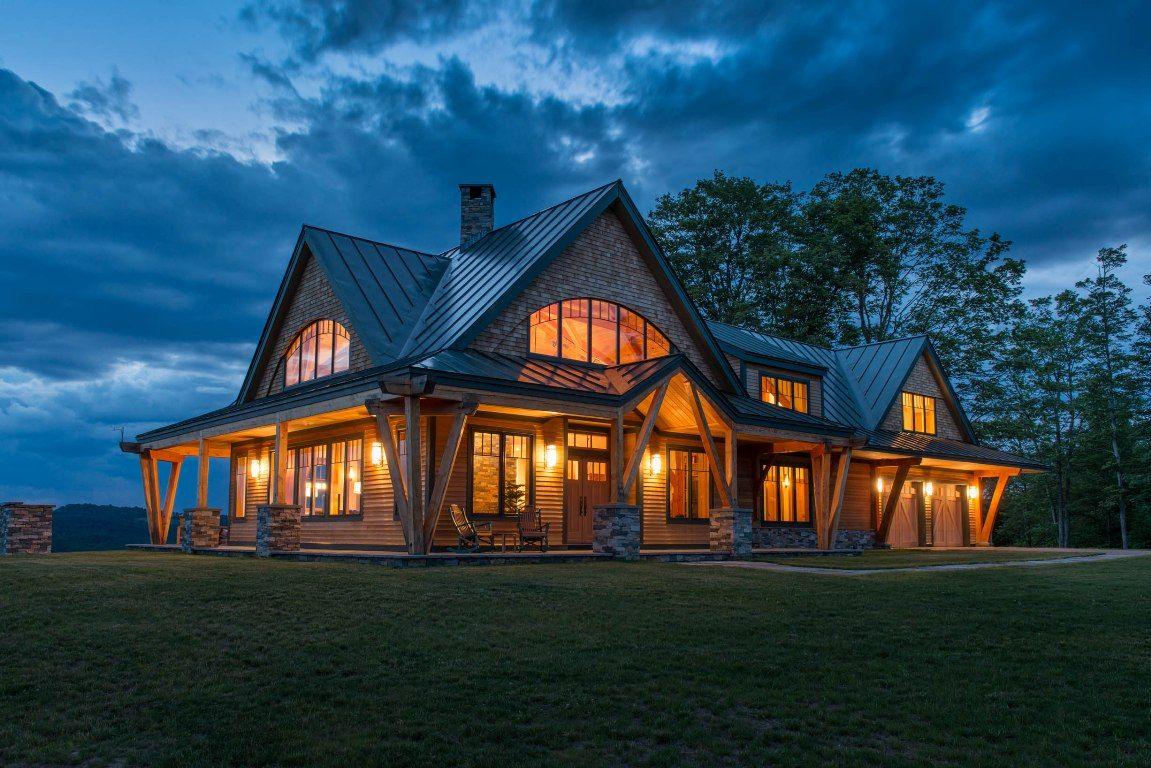 Night Pasture Farm   Chelsea VT   Modern Timber Home   Homes ...