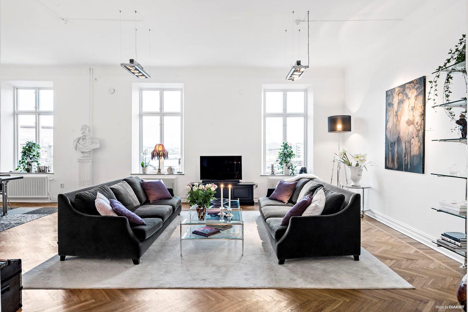 nordic minimalistica interior decoration, chic, elegant, fancy, cosy ...