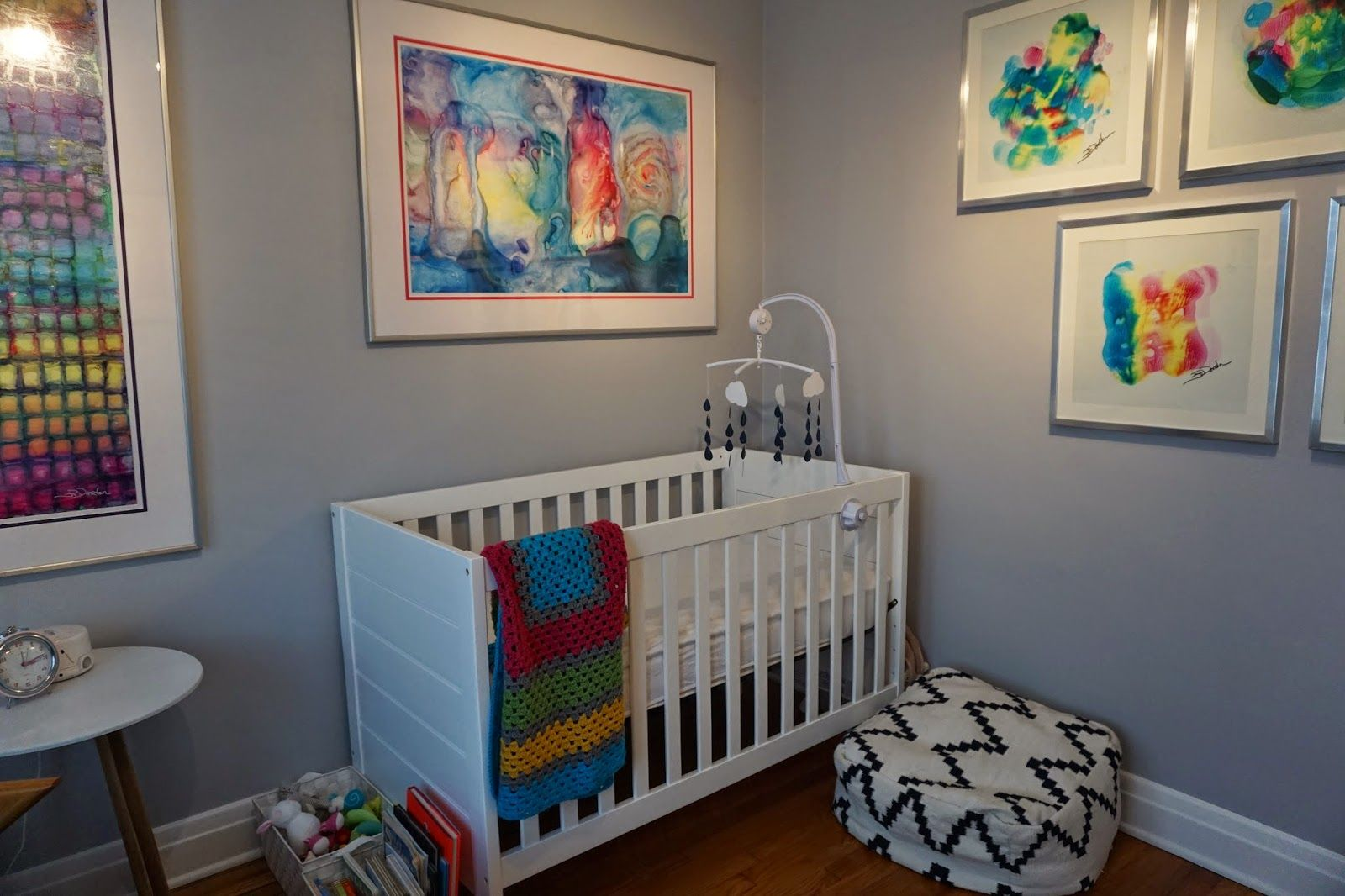Miss French Fry Makes Art Modern Nursery