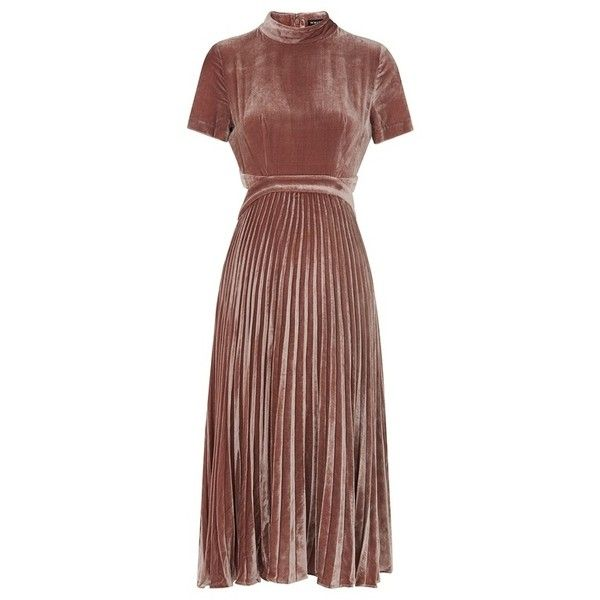 1262d3018552 alexandra pleat velvet dress ( 400) ❤ liked on Polyvore featuring dresses