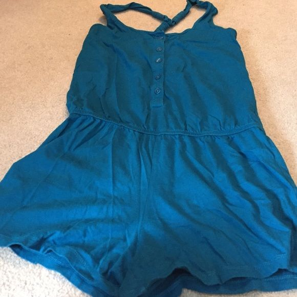 Gap shorts romper Worn a few times.  Excellent condition GAP Pants Jumpsuits & Rompers