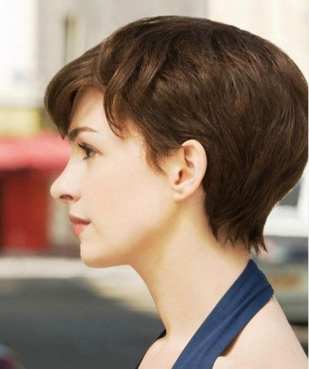 Anne Hathaway One Day Brunette Pixie Short Style My Style