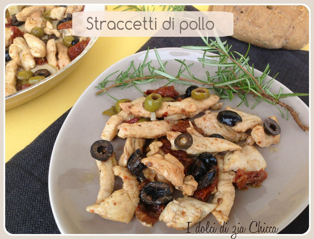 Straccetti di pollo con olive e pomodori secchi   Gusto